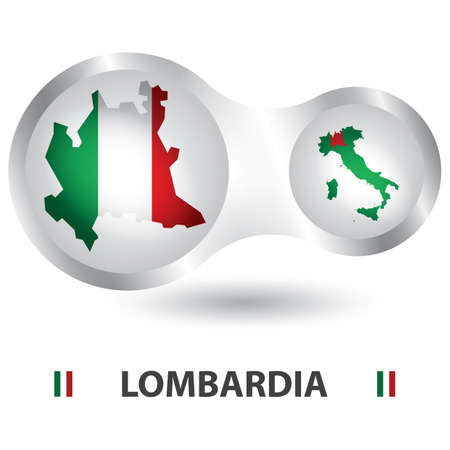 Illustration for lombardia map - Royalty Free Image