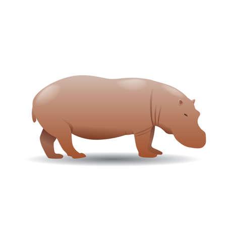 Illustration for hippopotamus - Royalty Free Image