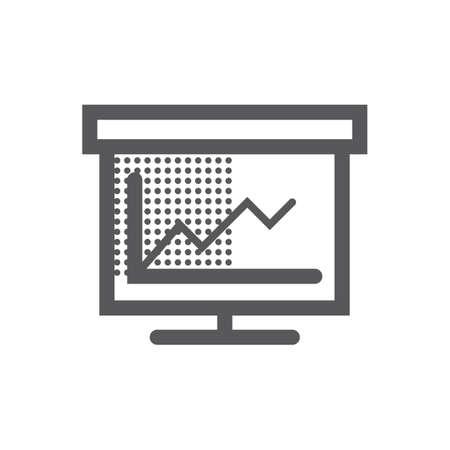 Illustration pour presentation board and graph - image libre de droit