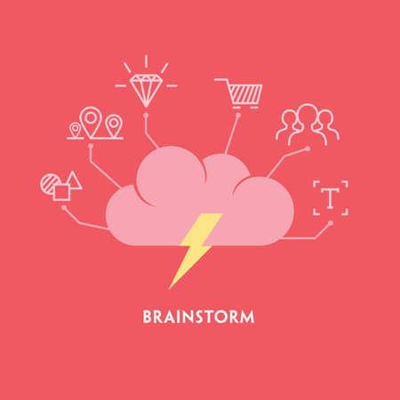 Illustration pour Brainstorm - image libre de droit
