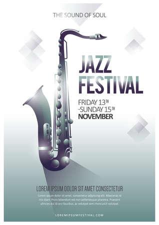 Ilustración de jazz festival poster - Imagen libre de derechos
