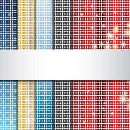 Illustration pour Set of raster backgrounds - image libre de droit