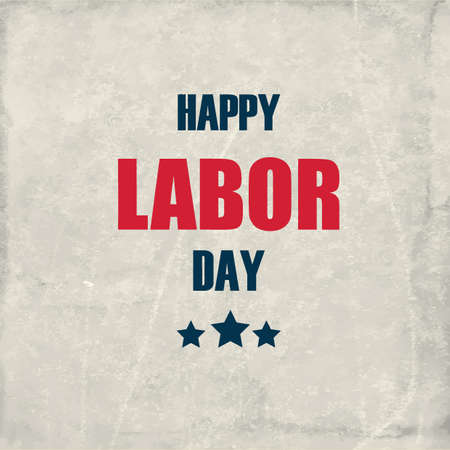 Illustration for happy labor day - Royalty Free Image