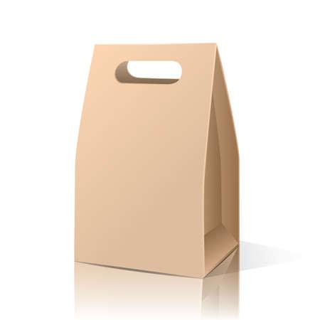 Illustration pour brown paper bag - image libre de droit