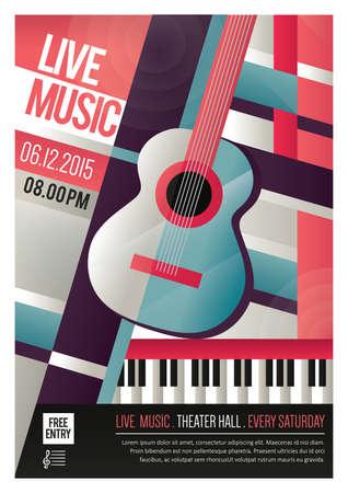 Ilustración de live music poster - Imagen libre de derechos