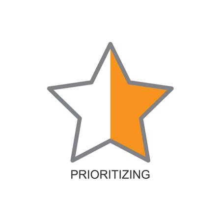 Ilustración de prioritizing - Imagen libre de derechos