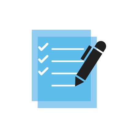 Illustration pour checklist and pen - image libre de droit