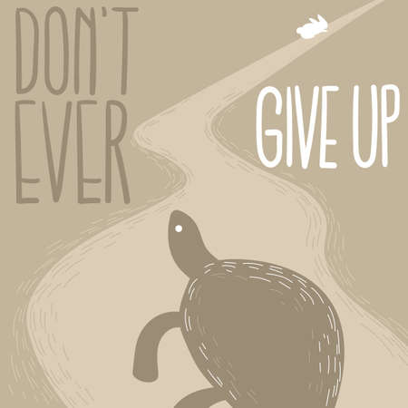 Illustration pour don't give up - image libre de droit