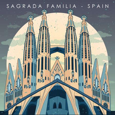 Ilustración de sagrada familia - Imagen libre de derechos