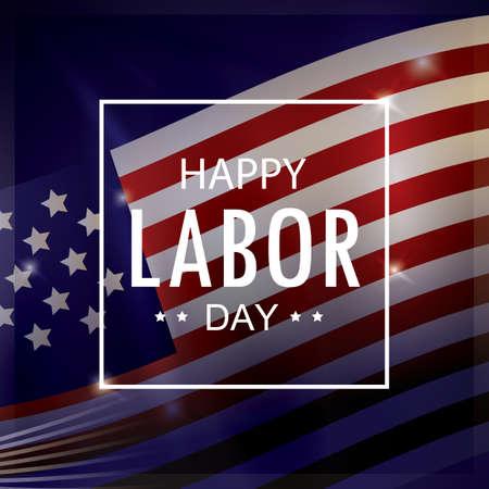 Illustration pour happy labor day wallpaper - image libre de droit