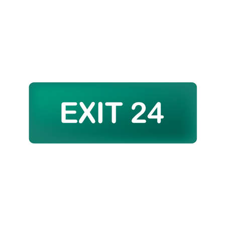 Illustration for exit road sign - Royalty Free Image