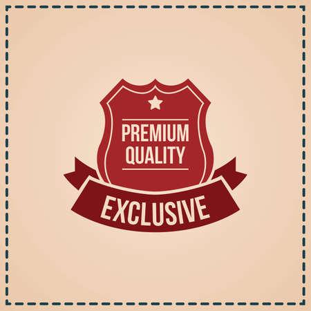 Illustration pour premium quality label - image libre de droit