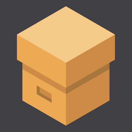 Illustration for carton box - Royalty Free Image