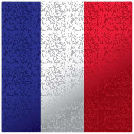 Illustration pour france flag texture background - image libre de droit