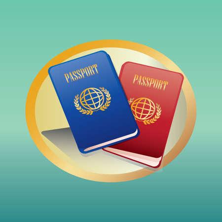 Ilustración de passports - Imagen libre de derechos