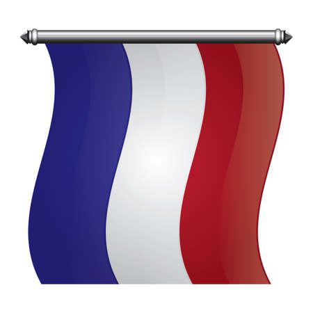 Illustration pour france flag pennant - image libre de droit