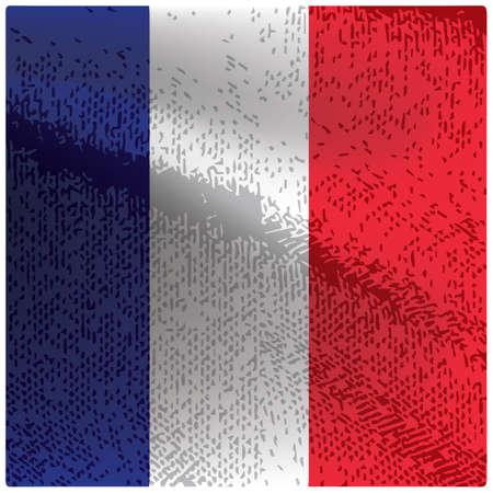 Illustration pour france flag grunge background - image libre de droit