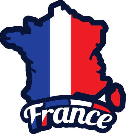 Illustration for france map - Royalty Free Image
