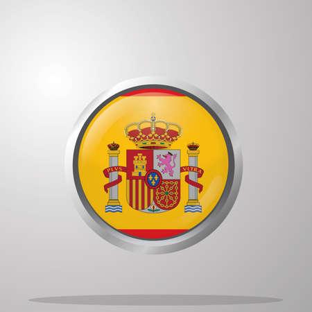 Illustration pour spain flag button - image libre de droit