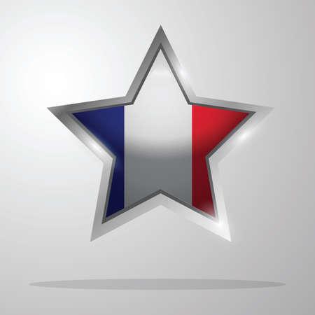 Illustration pour france flag button - image libre de droit