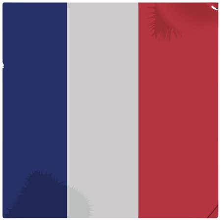 Illustration pour france flag background - image libre de droit