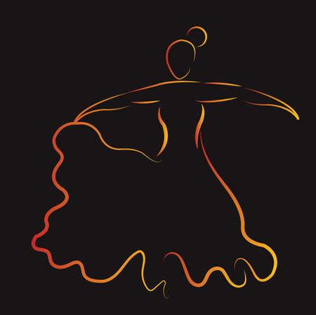 Ilustración de flamenco dancer - Imagen libre de derechos