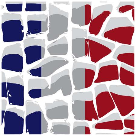 Illustration pour granite stone surface france flag background - image libre de droit