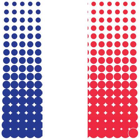 Illustration pour halftone dot france flag background - image libre de droit