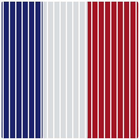Illustration pour france flag straight lines background - image libre de droit