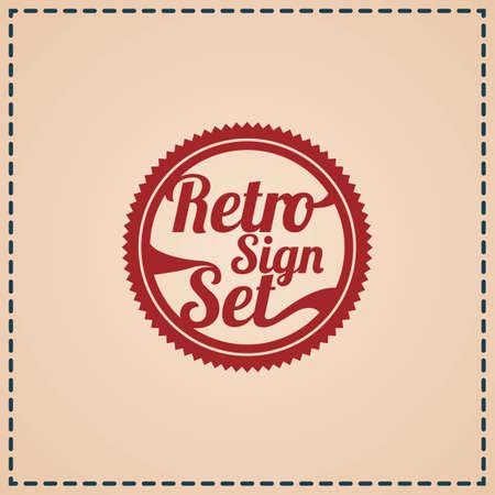 Ilustración de retro sign set label - Imagen libre de derechos
