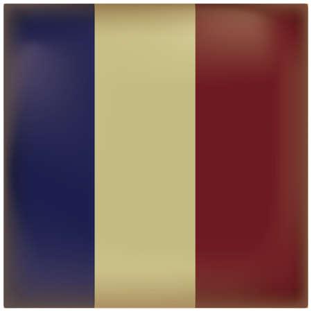 Illustration pour france flag vintage background - image libre de droit