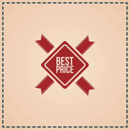 Ilustración de best price label - Imagen libre de derechos