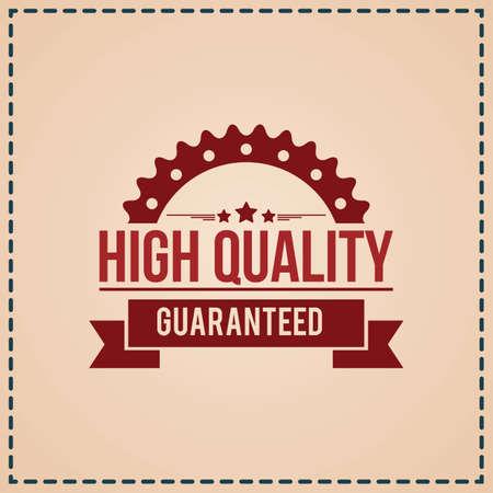 Ilustración de high quality label - Imagen libre de derechos