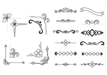 Ilustración de set of decorative borders - Imagen libre de derechos