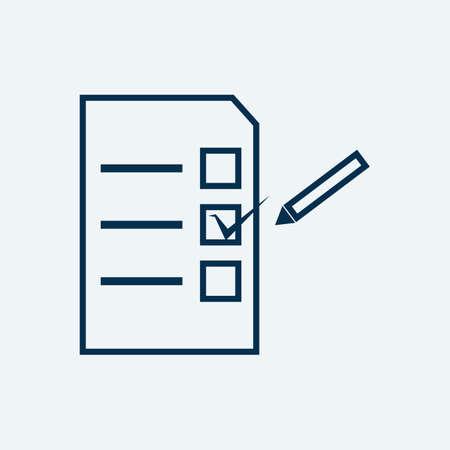 Illustration pour ballot paper - image libre de droit