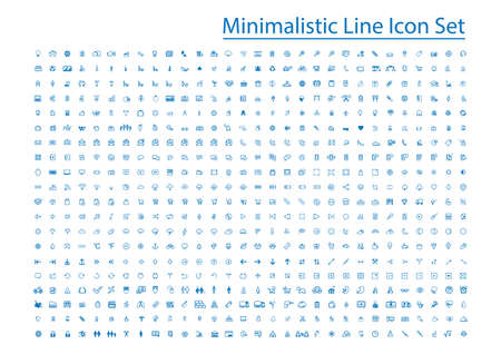 Illustration pour minimalistic line icon set - image libre de droit