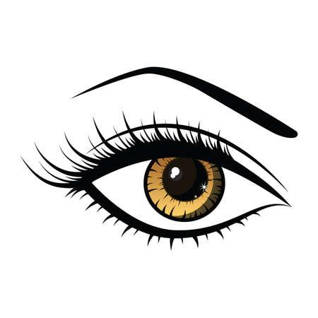 Ilustración de beautiful female eye - Imagen libre de derechos