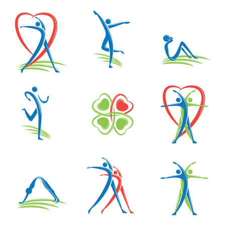 Ilustración de fitness logo - Imagen libre de derechos