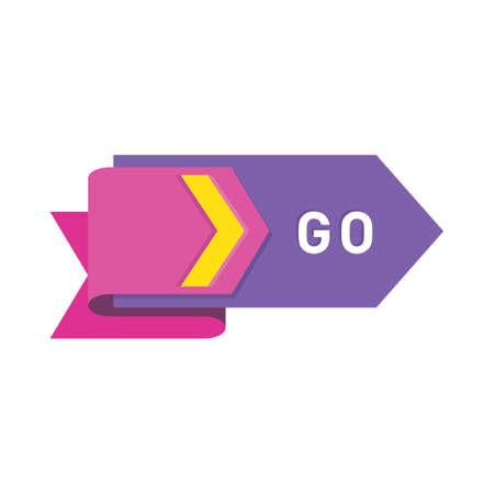 Ilustración de go button - Imagen libre de derechos