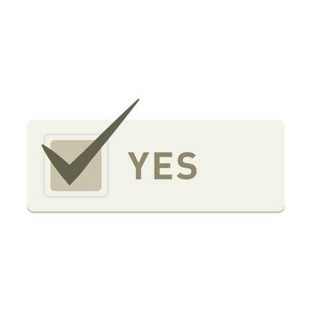 Illustration pour yes button - image libre de droit