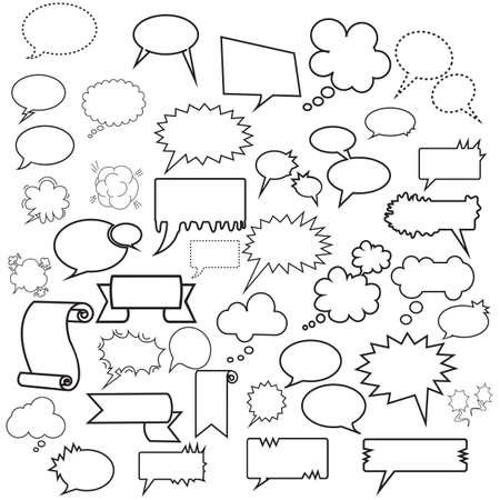 Illustration pour set of speech bubbles - image libre de droit