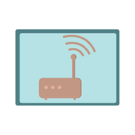 Illustration pour modem - image libre de droit