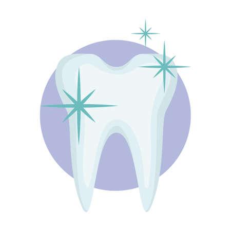 Illustration pour healthy and shiny tooth - image libre de droit
