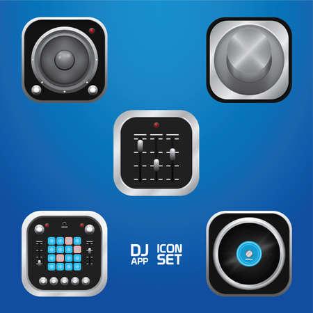 Illustration pour Music icons. - image libre de droit