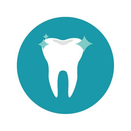 Ilustración de strong and shiny tooth - Imagen libre de derechos