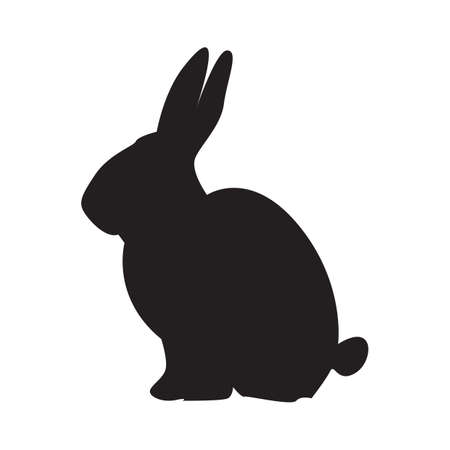 Illustration pour silhouette of rabbit - image libre de droit