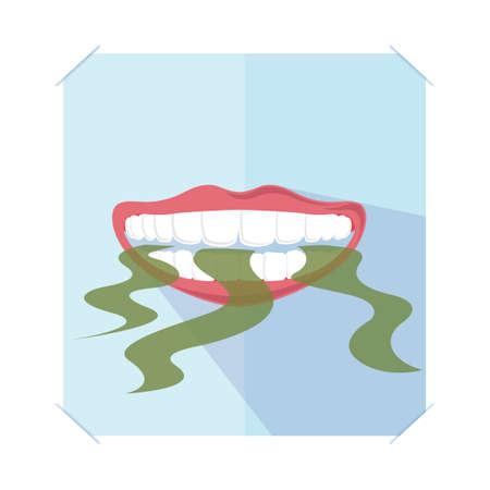 Illustrazione per bad breath - Immagini Royalty Free