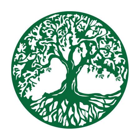 Ilustración de oak tree icon - Imagen libre de derechos