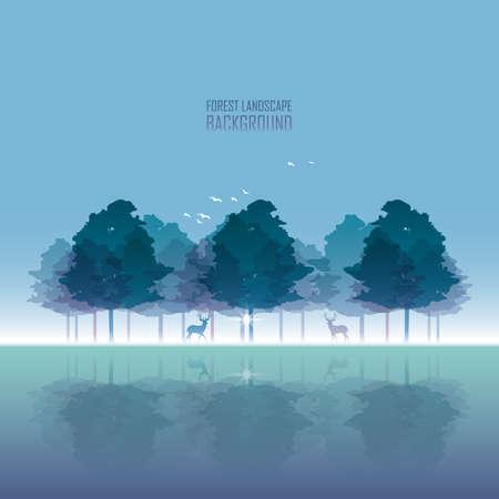 Ilustración de Forest landscape - Imagen libre de derechos