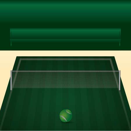 Illustration pour A tennis court illustration. - image libre de droit